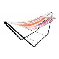 CHILLOUNGE® Sunrise - Einzel-Stabhängematte mit pulverbeschichtetem Stahl-Gestell