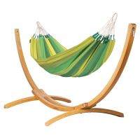 Orquídea Jungle - Klassische Einzel-Hängematte mit Gestell aus FSC™-zertifizierter Lärche
