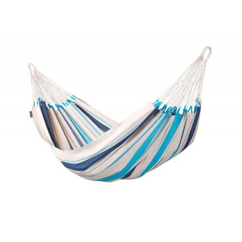 Caribeña Aqua Blue - Klassische Einzel-Hängematte aus Baumwolle