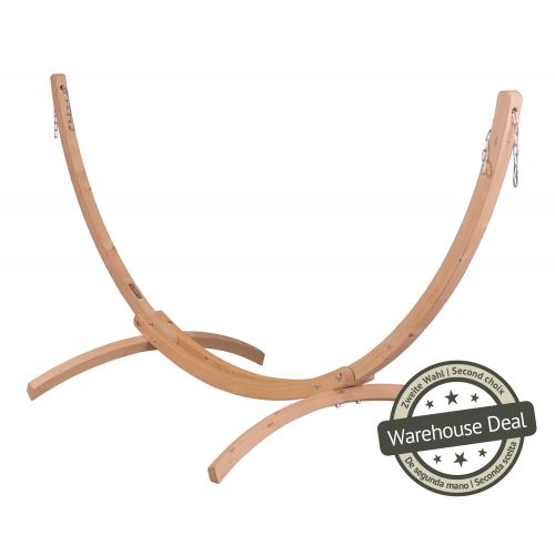 Canoa Caramel - Gestell aus FSC™-zertifizierter Fichte für Doppel-Hängematten