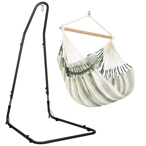 Domingo Cedar - Hängesessel Comfort mit pulverbeschichtetem Stahl-Gestell