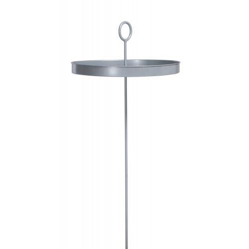 Mesero Silver - Hängematten-Tisch aus pulverbeschichtetem Stahl